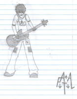 Guitar Playing Guy by ariastrife
