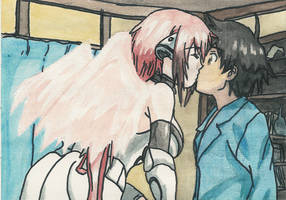 Ikaros kissing Tomoki by AkatsukiFan505