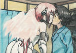 Ikaros kissing Tomoki by AkatsukiFan505