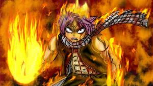 Natsu Dragneel_-_ On Fire by AkatsukiFan505