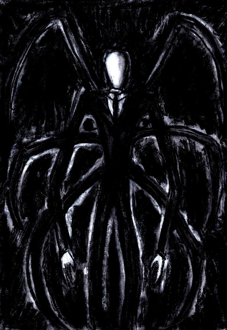 Slenderman Cool Coal Art by AkatsukiFan505