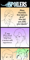 How Sherlock fakes his death... NOT
