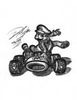 Mario Kart Fanart by VashTheStampegg
