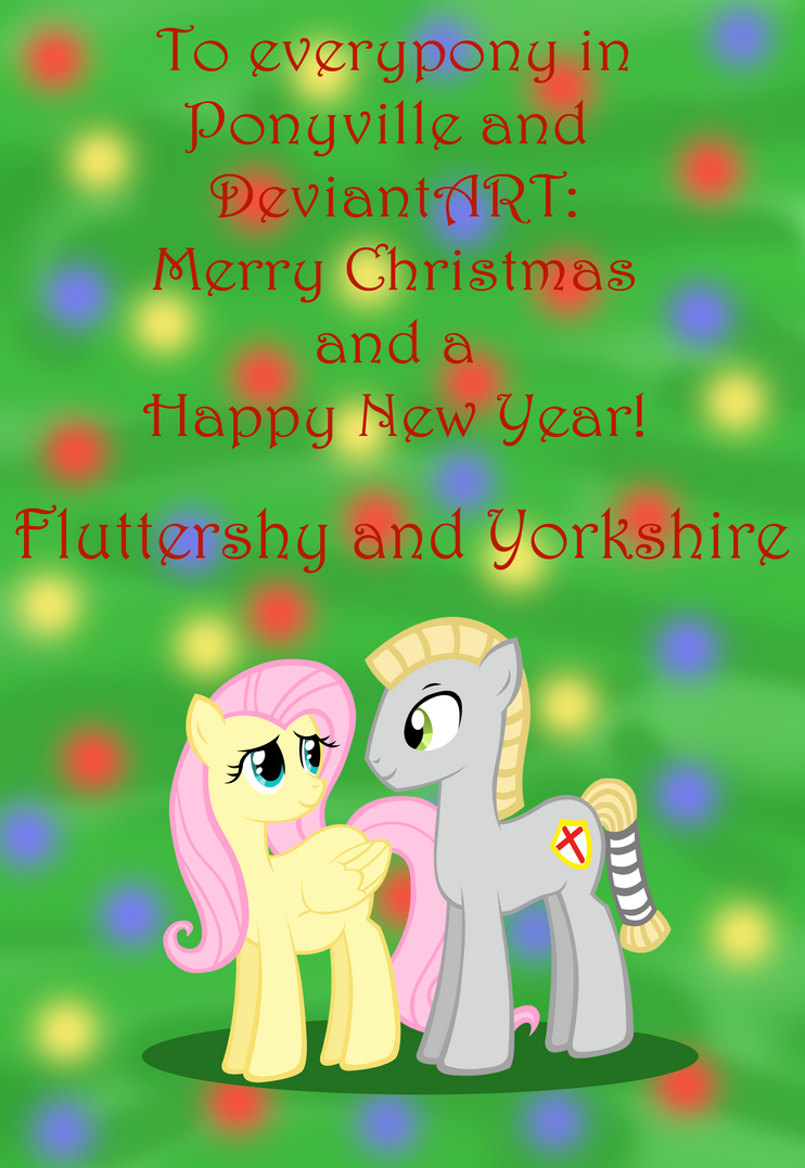Fluttershy and Yorkshires Christmas Card by Dandric101 on DeviantArt