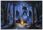 Monster in the Woods + Speedpaint!