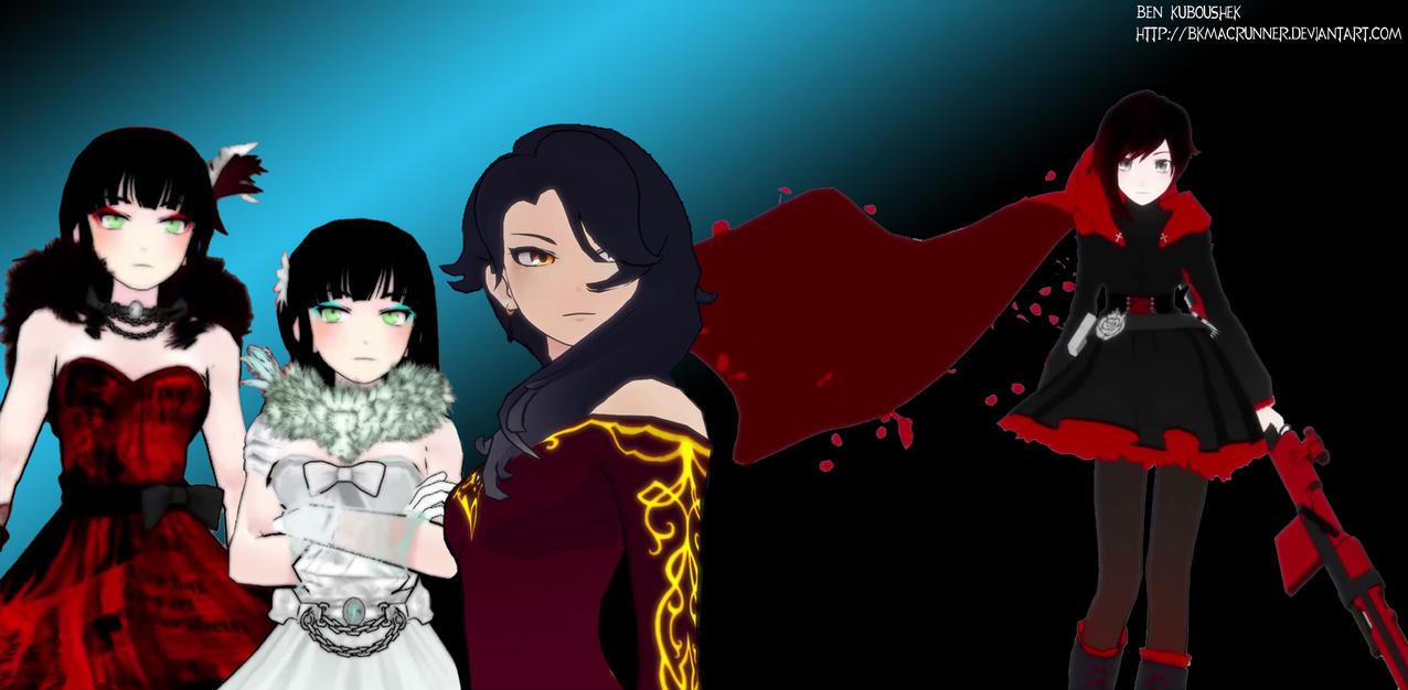 Cinder, Melanie, Miltia, and Ruby by bkmacrunner