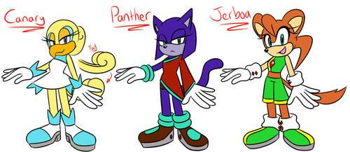 Sonic OC Female Adopts (OPEN) by NicoleDoodle64
