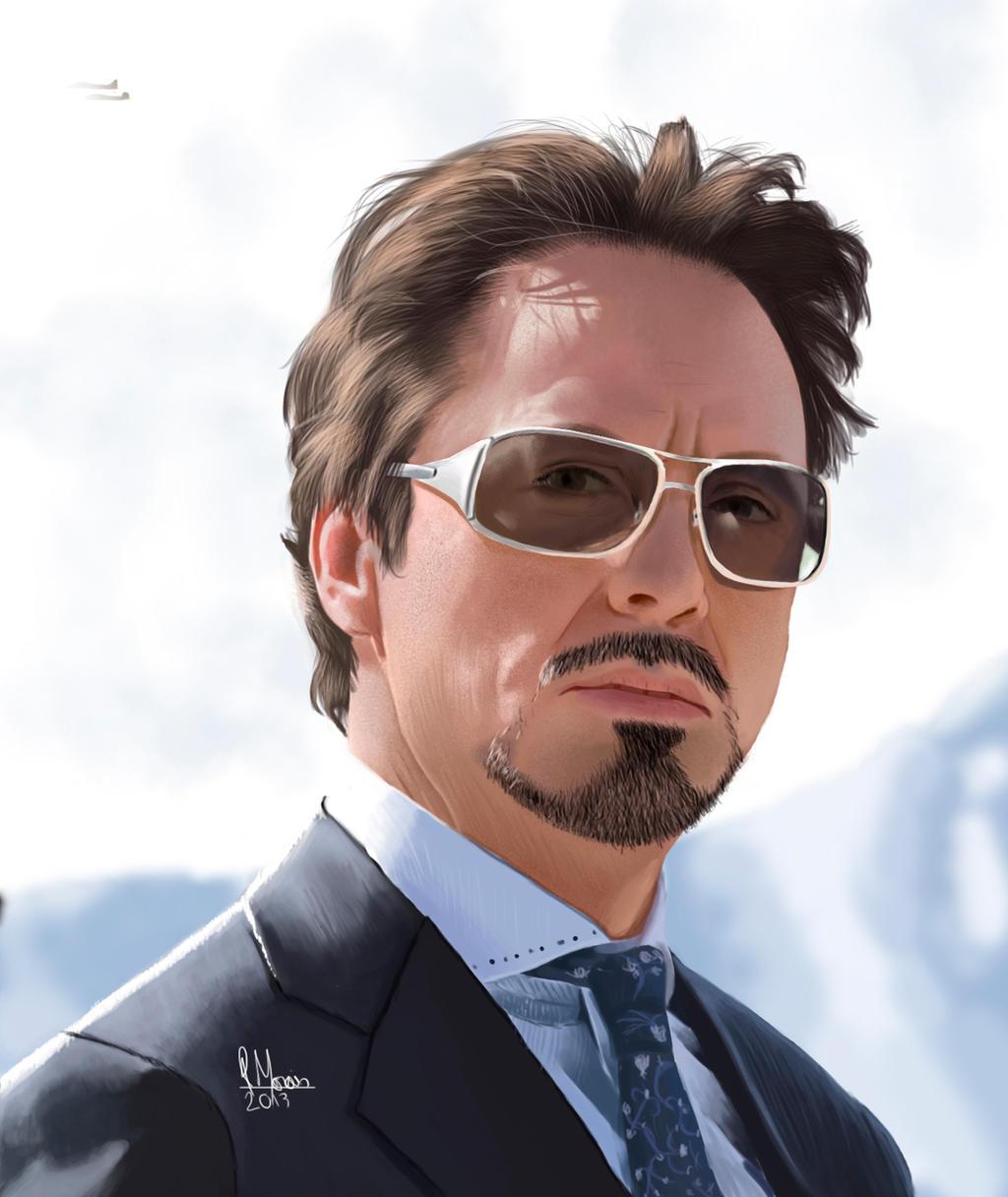How to Draw Tony Stark Robert Downey Jr Iron Man 3 Step
