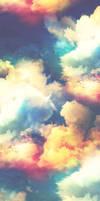 Rainbow Sky Custom Box Background.