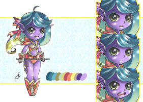 Adoptable Auction: Night Elf Chibi.[CLOSED] by Sarah--Elizabeth