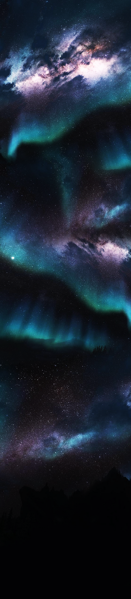 Northern Lights Custom Box Background. by Sarah--Elizabeth