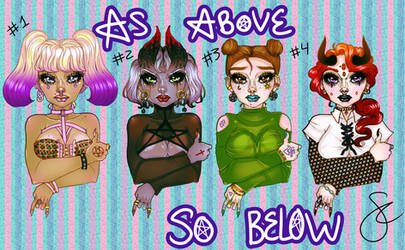 Occult Girl Adoptables!