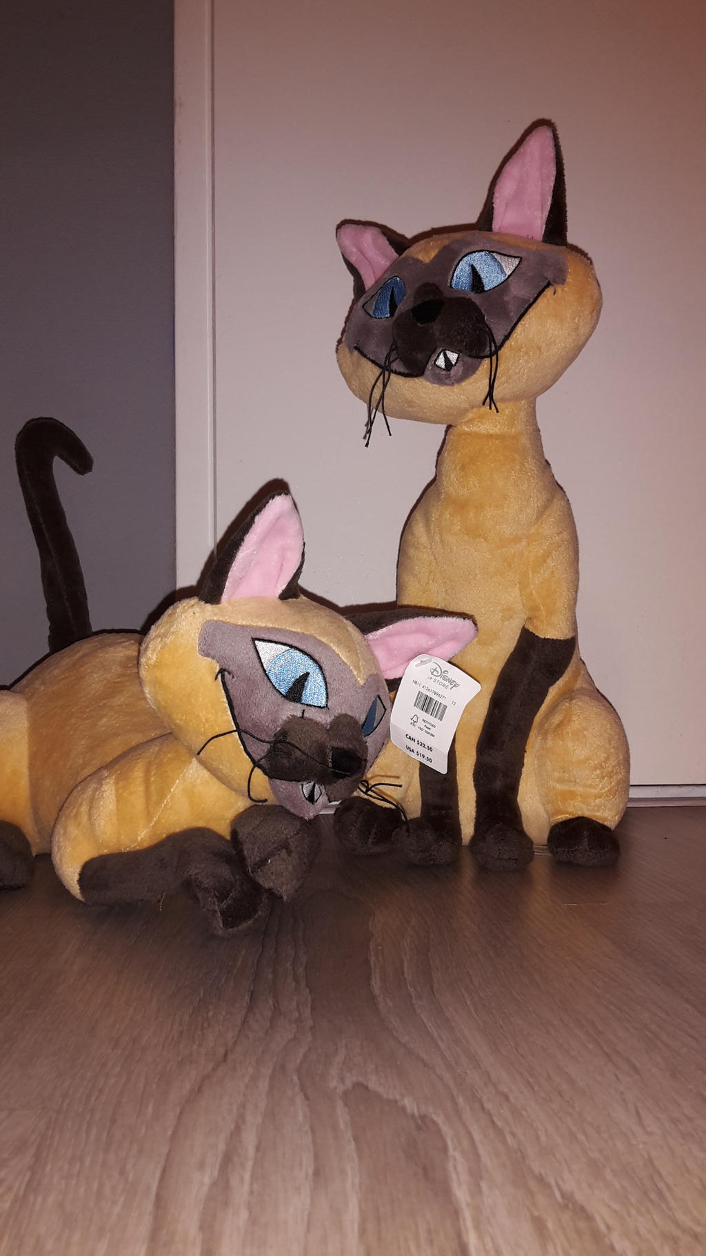 Si and Am Siamese cats plush Lady and the Tramp by ...