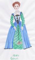 1580s Elizabethan Gown