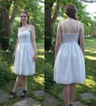 White Eyelet Graduation Dress