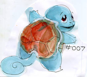 Pokemon Paintings - Squirtle by Duckie-Frogs