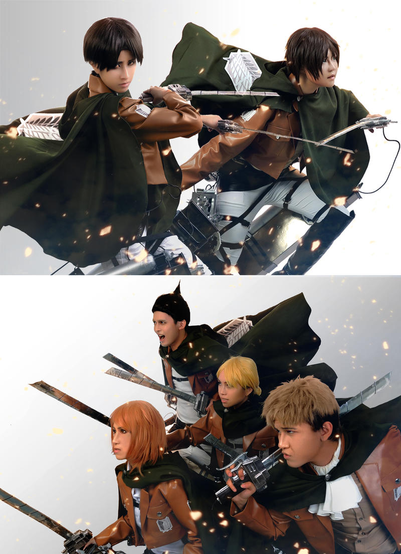 Attack on Titan: Rivaille Squad by Junez-chan