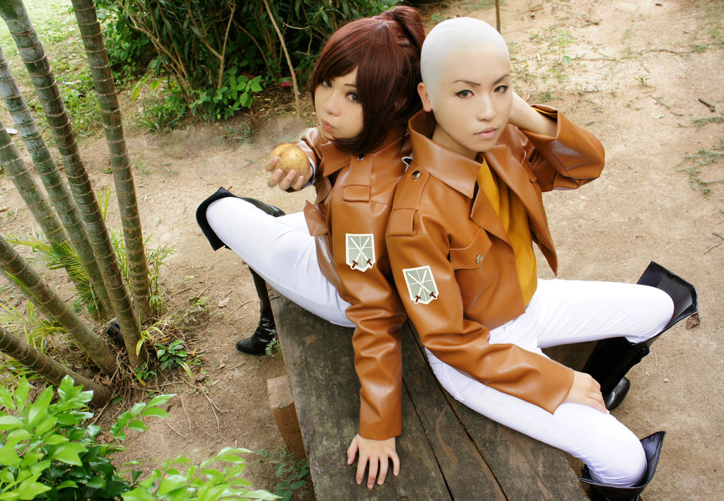 Attack on Titan: Sasha and Connie 2 by Junez-chan