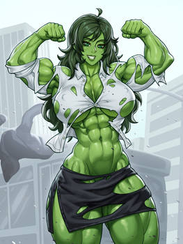 She Hulk - Hulking out for the fans