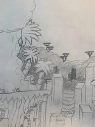 Mario ADL: Keppel Falls (first sketch)