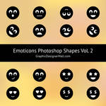 Emoticons Photoshop Shapes (Volume 2) by GraphicDesignerWall