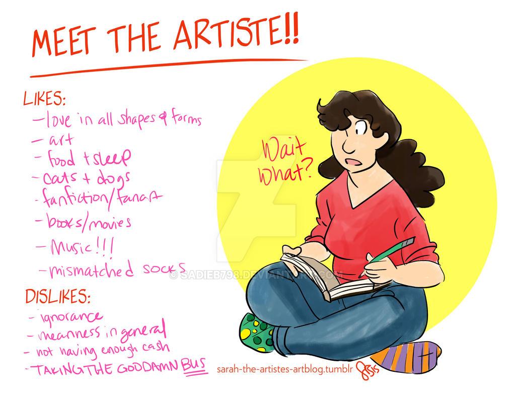 Meet the Artiste! by sadieB798