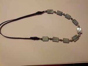 Grey pearl headband