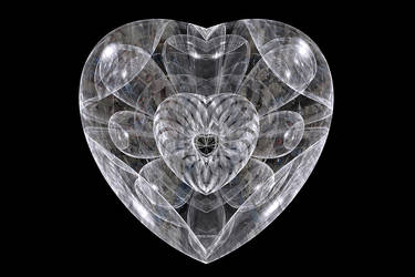 Happy Valentinesday,  a pure heart. by FractalCaleidoscope
