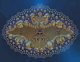 Golden bat by FractalCaleidoscope