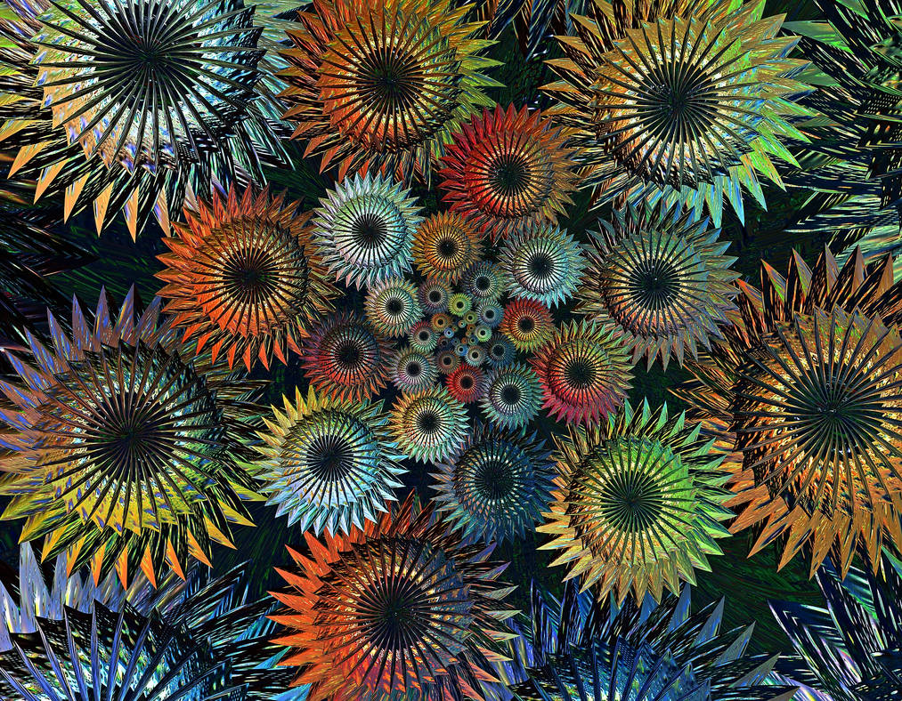 Free stock, colorful gear wheels by FractalCaleidoscope