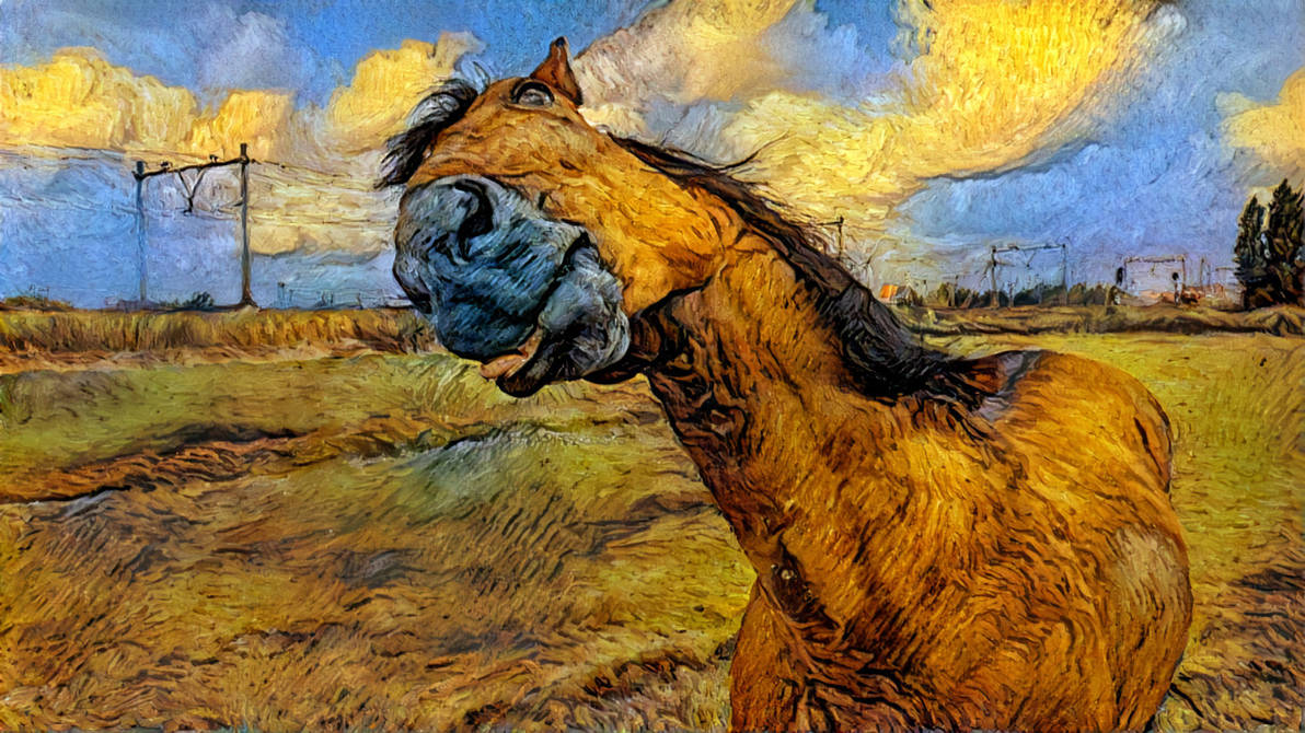 Stock, horse with filter