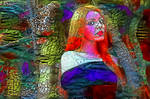 Girl in magic forest by FractalCaleidoscope