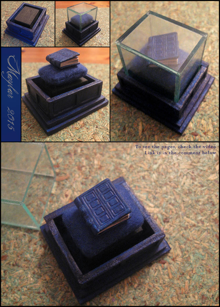 River Song's Diary, with stand and the cover by Maylar