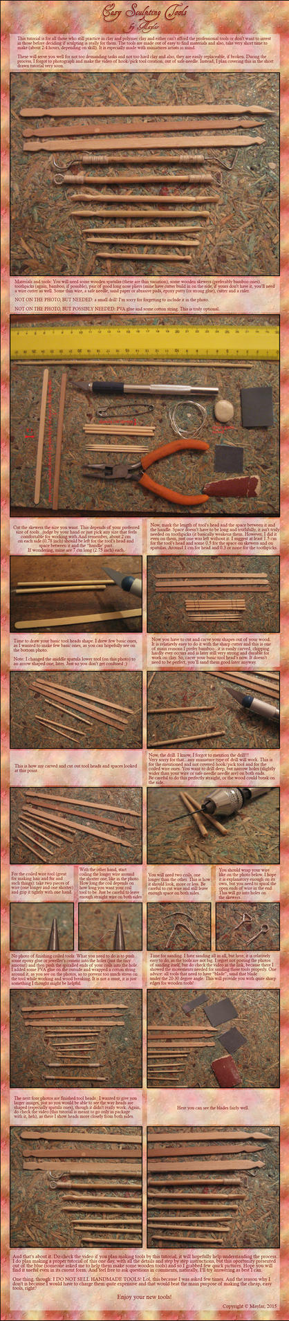DIY Easy Sculpting Tools Tutorial by Maylar