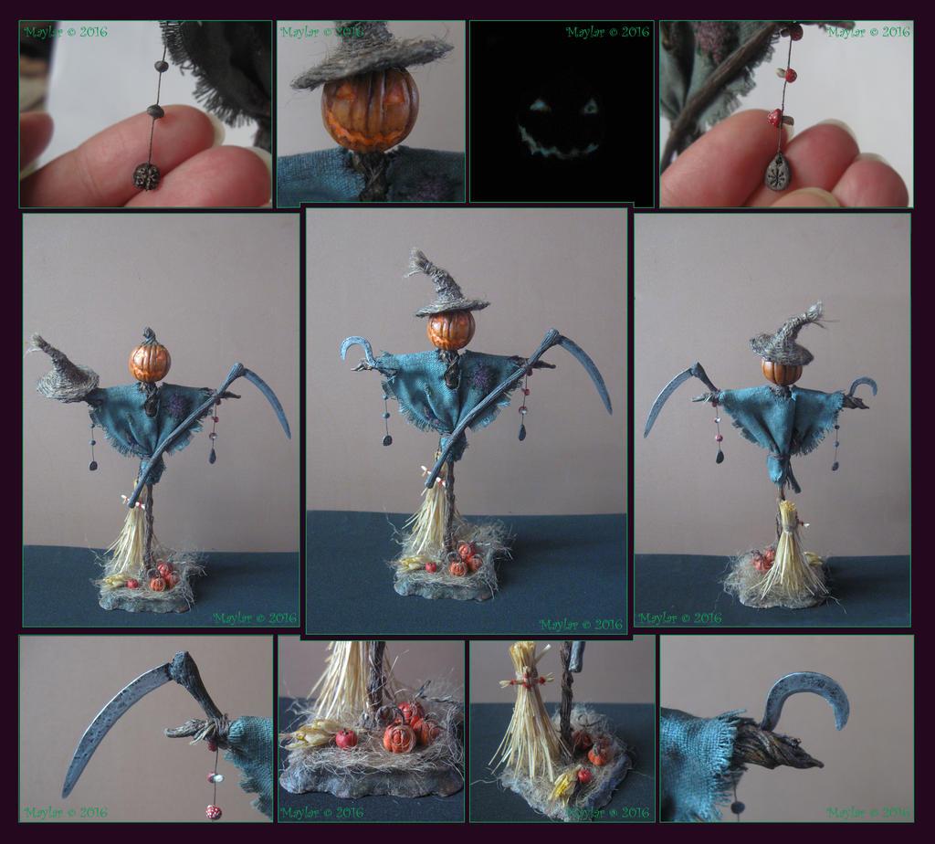 Dark Night Of the Scarecrow CUSTOM HORROR DOLL OOAK Figure SALE