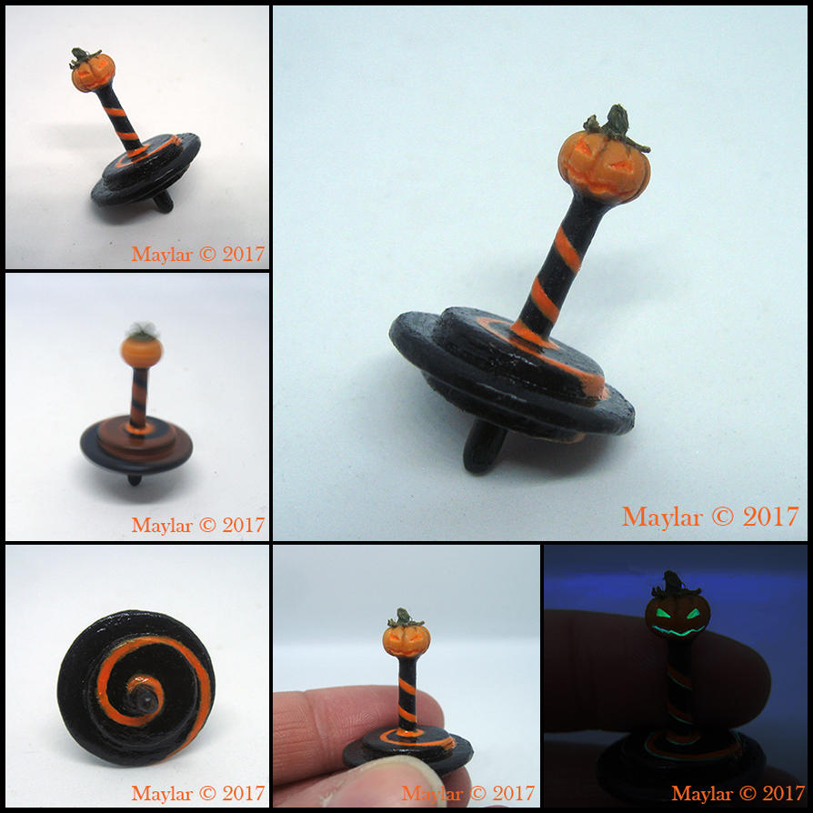 Pumpkin Spinning Top by Maylar