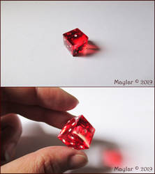 Red Lucky Dice for a Friend by Maylar