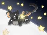 Moon, stars...