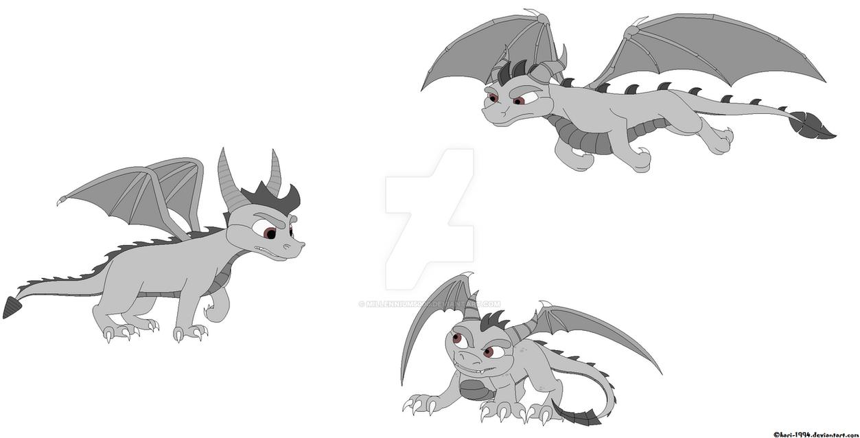 Line Art Dragon : Spyro the dragon base by millennium on deviantart