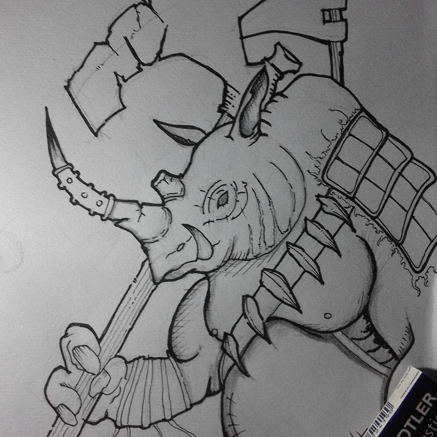 Rhino Heavy Axe Warrior by UTTERDARKJAT