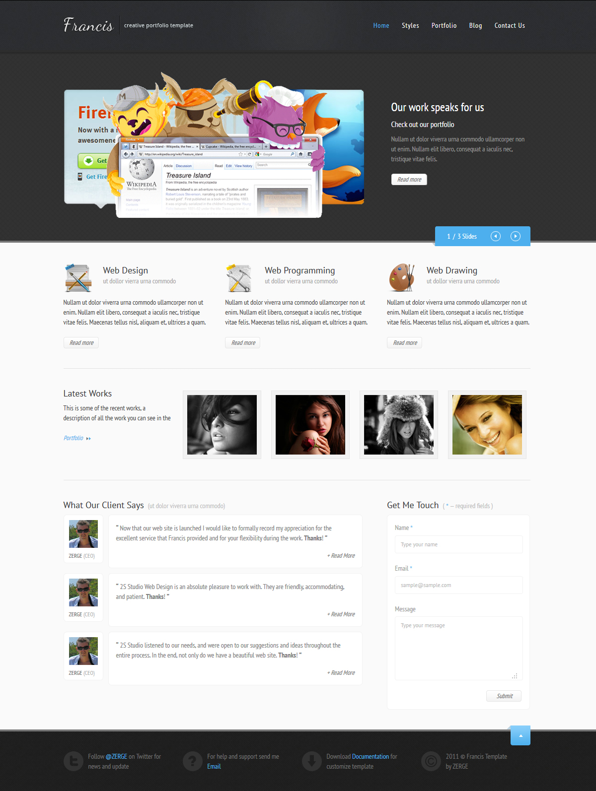 Homepage Design Templates