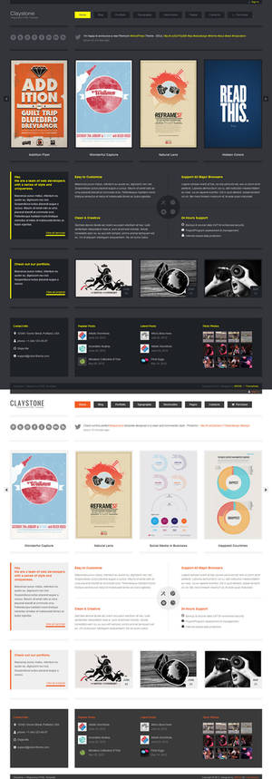 Claystone - Responsive HTML Template