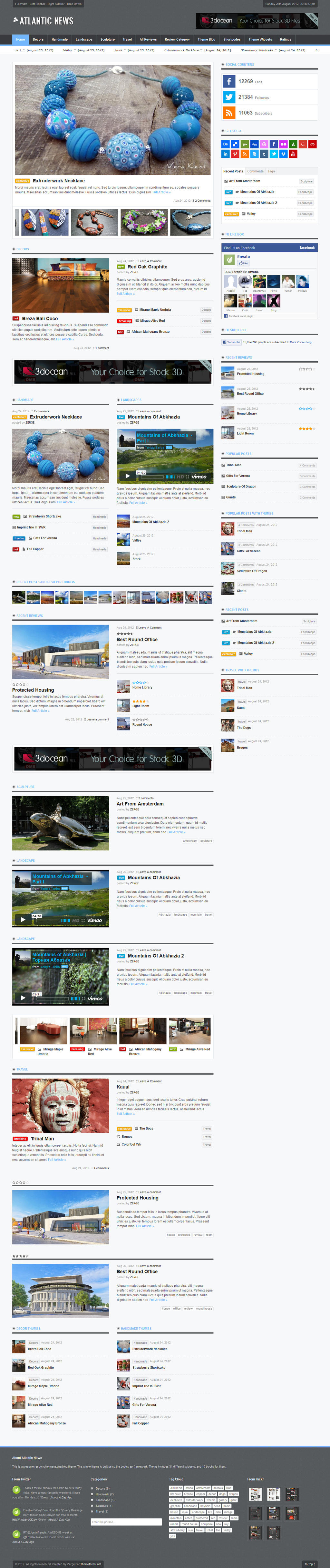 Atlantic News - Responsive WordPress Magazine Blog by ZERGEV