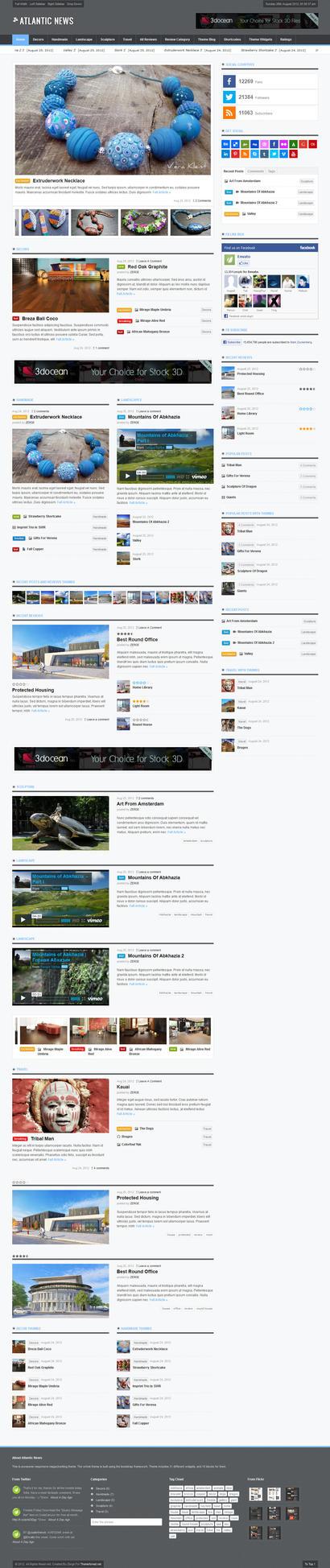 Atlantic News - Responsive WordPress Magazine Blog by ZERGEV