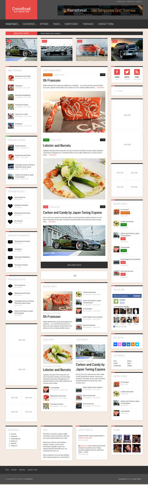 CrossRoad - Responsive WordPress Magazine / Blog by ZERGEV