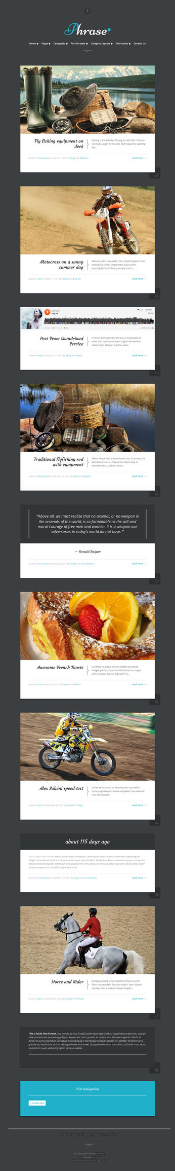 Phrase - Responsive WordPress Blog Theme by ZERGEV