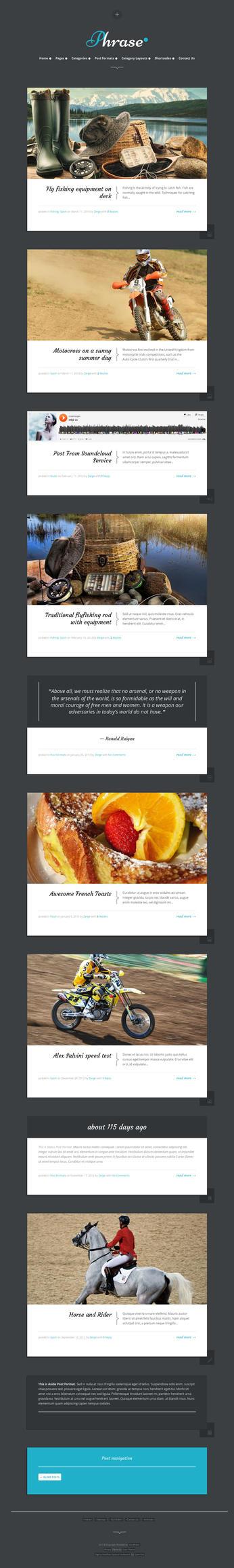 Phrase - Responsive WordPress Blog Theme by ZERGEV