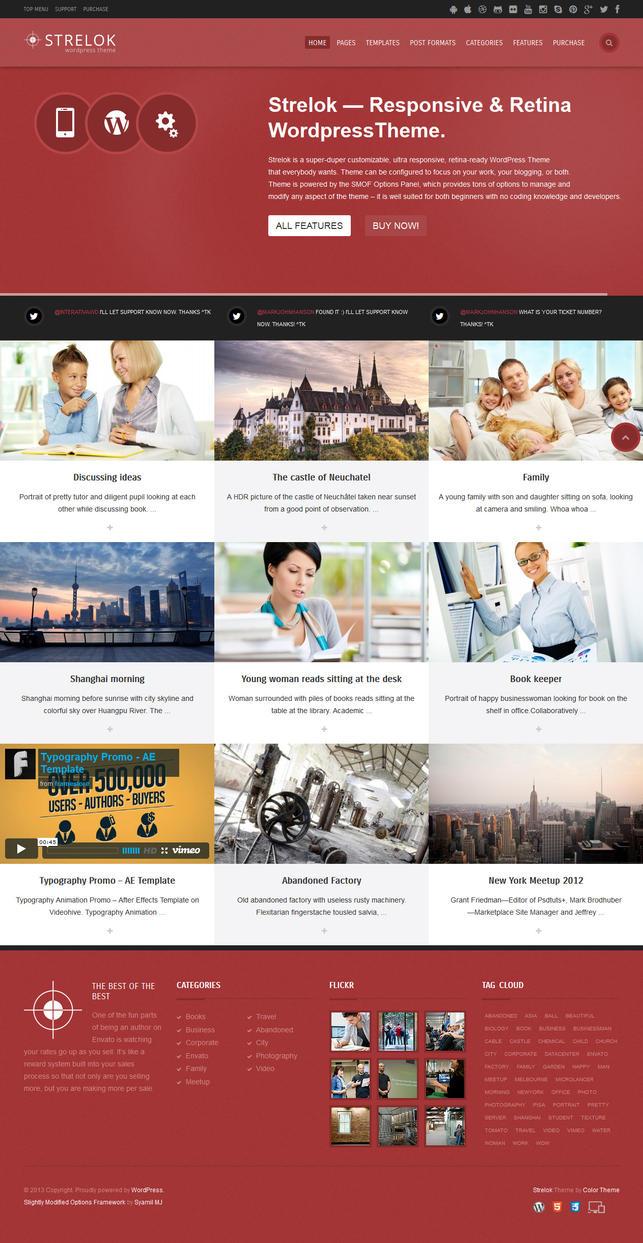 Strelok - Retina Responsive WordPress Blog Theme by ZERGEV