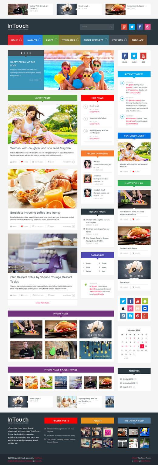 InTouch - Retina Responsive WordPress News Theme by ZERGEV