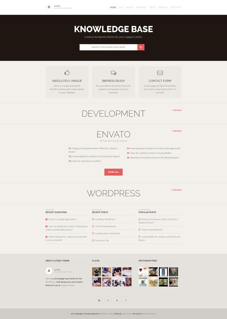 Altera - Knowledge Base Wordpress Theme by ZERGEV
